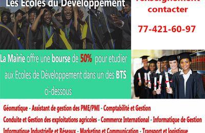 Les Écoles du Développement : Bourses d'études