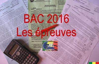 Épreuves et corrigés du Bac Général 2016 (premier groupe)
