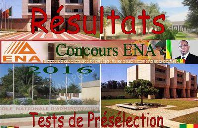 Résultats des tests de présélection du concours direct de l'ENA Cycles A et B