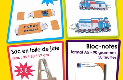 Les objets promotionnels UAICF : prix des sacs en baisse