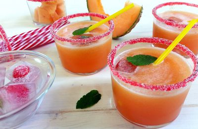 Agua fresca au cantaloup (melon orange)