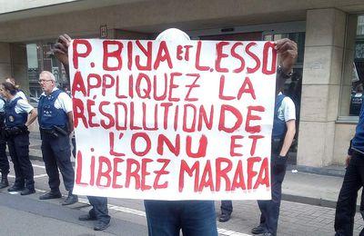 Malgré l'hostilité des autorités de l'ambassade du Cameroun, la voix de ASMA (Action Solidaire pour Marafa) s'est faite entendre lors de la rencontre de Laurent Esso avec la diaspora Camerounaise de Belgique ce samedi 5 août 2017.