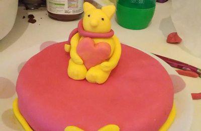 Malgré tout les imprévus voici le gâteau de saint Valentin/anniversaire de mariage