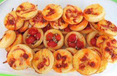 Minis tartelettes aux tomates cerises du jardin et huile d'olive Oliveraie JeanJean