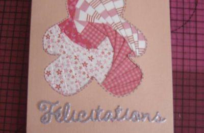 Carte de naissance nounours pour une fille