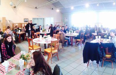 Repas avec les étudiants