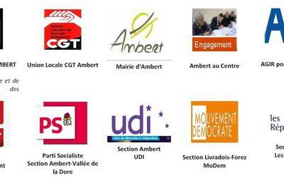 Guichet de la gare SNCF d'Ambert - Lettre aux élus et motion