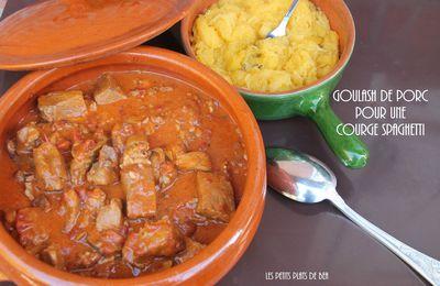 Goulash de porc pour accompagner une courge spaghetti