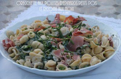 Orecchiette aux pousses d'épinards petits pois et ricotta aux noix - Italie  les Pouilles (4) Ostuni