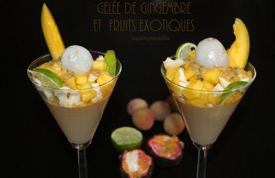 Gelée de gingembre et fruits exotiques