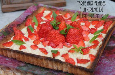 Tarte aux fraises à la crème de Philippe Conticini