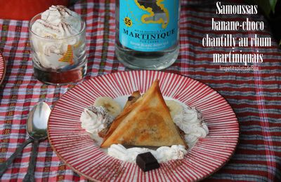 Samoussas banane-choco et chantilly au rhum martiniquais - Tea Time Challenge #2
