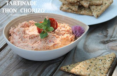 Tartinade thon et chorizo