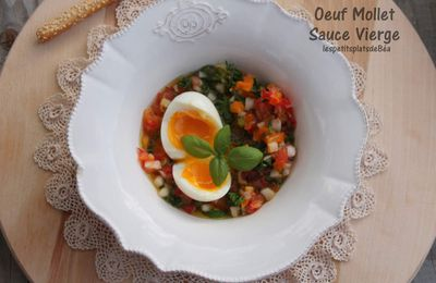 Oeuf mollet sauce vierge
