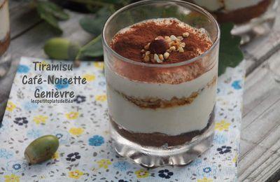 Tiramisu café-noisette et genièvre - Balade à Wambrechies
