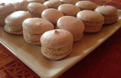 Macaron au chocolat blanc