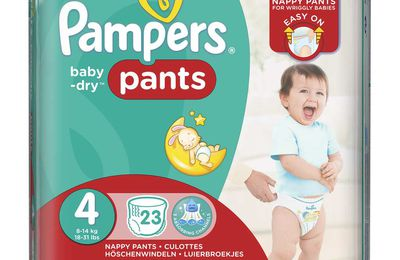 Pampers Baby-Dry Pants Une nouvelle génération de couches pour une nouvelle génération de papas !