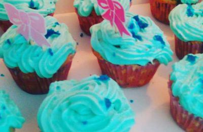 Mes Cupcakes style Reine des Neiges !
