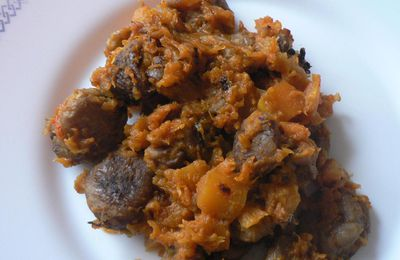 Pumpkin and chestnuts with spices for chorba