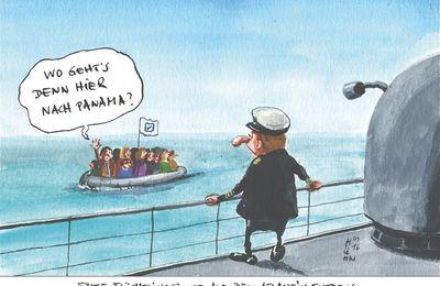 Oasen-Flüchtlinge in Erklärungsnot im Segelboot - Wolle mer se reilosse? Oder gewähren wir ihnen und uns einen sauberen Tod auf hoher See? Oder alternativ das Wüstenticket? - Tja, lieber Freund: Was soll nun dein Herzstück sein?