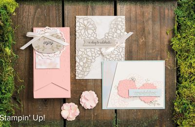 video tuto gratuit STAMPIN UP  Lot Amour Fou collection Amour Naissant /SO IN LOVE set