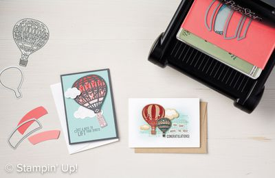 video tuto gratuit STAMPIN UP  Lift Me Up and Away Lot gentil remontant