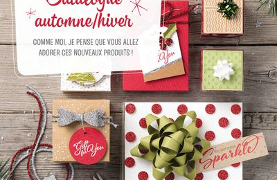 STAMPIN' UP !  sortie officielle catalogue Noel / saisonnier 2017 / 2018