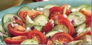 Il est la raison pour laquelle vous ne pouvez pas manger des tomates et des concombres dans une même salade!