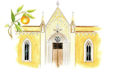 Chapelle Saint Bernardin d'Antibes en acquarelle