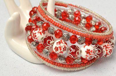 Pandahall tutoriel - comment faire un bracele multi-rangs avec perles oranges