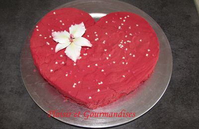 Entremet Fruits rouges en Coeur