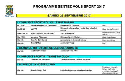 Journées Sport-santé à Pornic les 23-24 septembre 2017