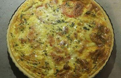 Quiche aux tomates-mozzarella