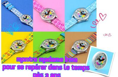 La notion du temps de 3 à 6 ans avec la montre et l'horloge Madame Irma