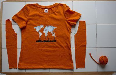 T-shirt XXL retaillé en S
