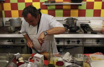 Suivre un chef en cuisine
