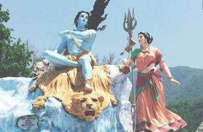 Famous Statue at Triveni Ghat in Rishikesh
