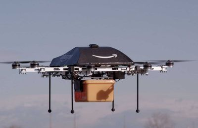 """You should expect your drone delivery in 20 mins"".."