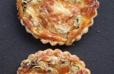 Mini quiches au poulet