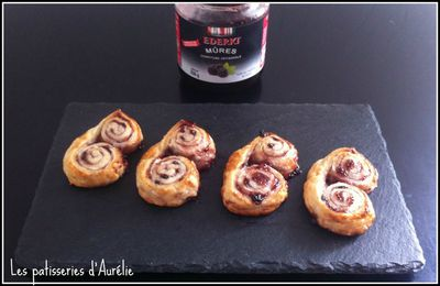 Palmiers à la confiture de mûres