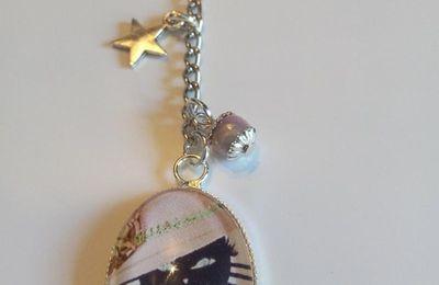"""porte clés ou bijoux de sac """"chat"""""""