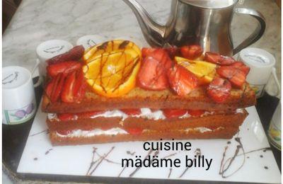Cake farci au fraise et yaourt كيكة محشوة بالياغورت والفراولة