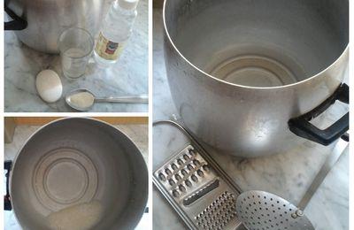 Pour nettoyer la cocotte لتنظيف الكوكوات