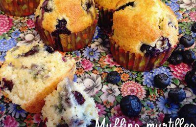 Muffins aux myrtilles et huile d'olive