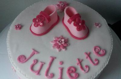 Gâteau Naissance Fille