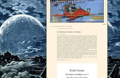 Du « Merveilleux Scientifique » Chez Bibliogs, par Jean-Luc Boutel, sur Le Chasseur de Chimères