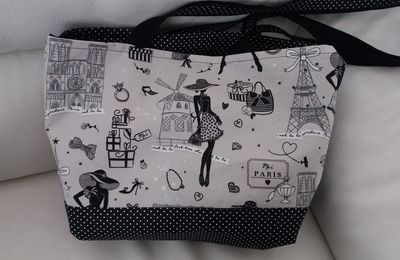 "COUTURE : Sac ""Paris chic"""