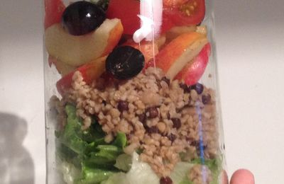 Mason JAR salade simple