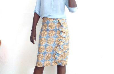 ANKARA SKIRT WITH RUFFLES