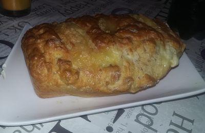 Cake au jambon et 3 fromages